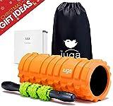 IUGA, Set 2 in 1 con Rullo in Schiuma e Massaggi, Terapia del Punto Trigger, Rilascio miofasciale, Rullo Muscolare per Allenamento, Crossfit, Yoga e Pilates …