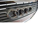 original Audi Emblem Grill Ringe schwarz matt, Audi Originalteil