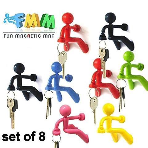 Fun Magnetic Man |wall d'escalade Homme Clé holder|strong aimant et en silicone peut contenir jusqu'à 1.4pound |1037