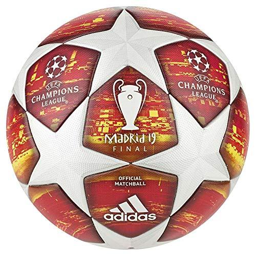 adidas Finale M Omb Ball (Thermal-bonding), Herren, White/Active Scarlet/Solar Red, 5