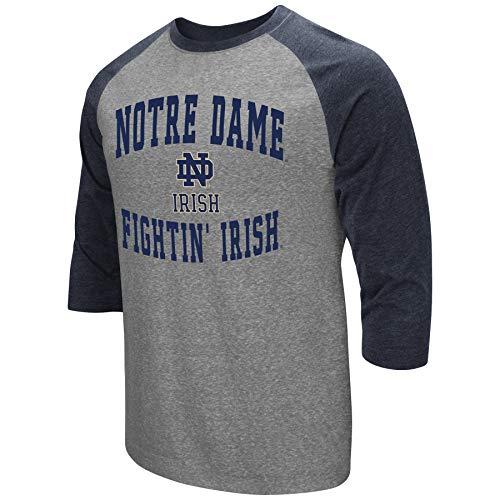 Über Baseball-t-shirt (Colosseum Herren ncaa-raglan-3/4Sleeve-Heathered-Baseball T-Shirt, Herren, Notre Dame Fighting Irish, X-Large)