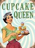 Cupcake Queen Blechschild (40x30cm)