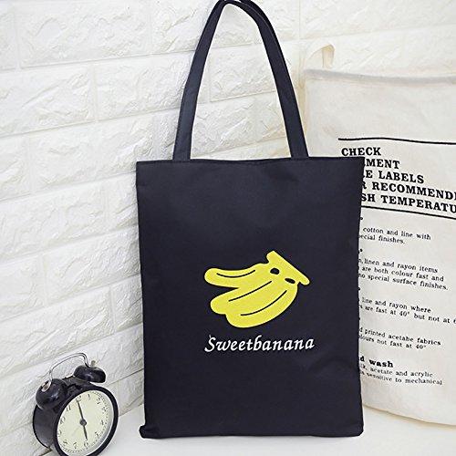 Dragonaur, Borsa A Tracolla Da Donna Nero Limone Grande Banana Nera