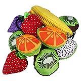 5pieza algodón tamaño de forma de fruta bolsa de la compra reutilizable plegable Bolso Shopping Bag Süße funda guanweushop