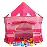 Crystals Children Kids Pop Up Wizard Princess Castle Playing Tent Indoor Outdoor Playhouse Fun Toy by
