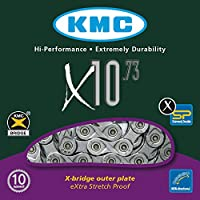 KMC Chain X-10-73 Cadena Estrecha, Unisex, Gris, 114 eslabones
