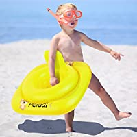 Peradix Piscina Salvagente per Bambini Giallo