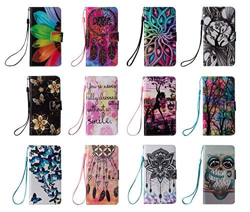 für Smartphone Samsung Galaxy S6 Hülle, Klappetui Flip Cover Tasche Leder [Kartenfächer] Schutzhülle Lederbrieftasche Executive Design +Staubstecker (5II) 9