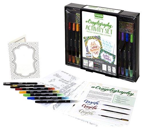 (Crayola Signature Crayoligraphy Activity Set-)