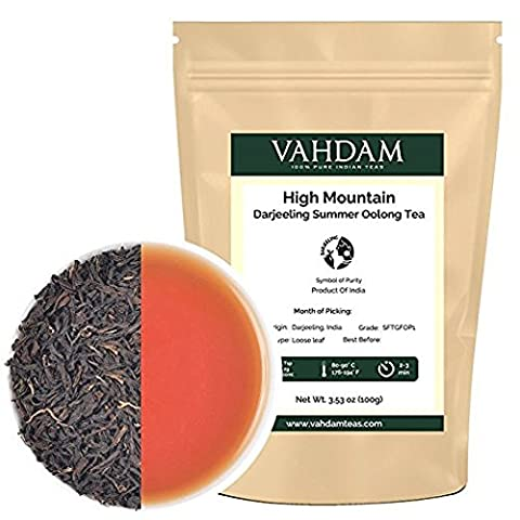 High Mountain Oolong Tea Leaves from the Himalayas, Oolong Tea Loose Leaf, Hand Picked Oolong Tea for Weight Loss, A Perfect Everyday Loose Leaf Oolong Tea, 100gm (50 Cups)
