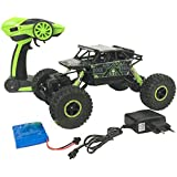 HALO NATION Rock Crawler 1:18 - Mighty Monster Truck - King Of Mountains With Remote Controlled 4 Wheel Drive - 1:18 Scale (Green)