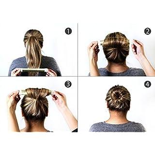 Adorox 3 Piece Beauty Hair Bun Maker, Magic Bun Shape Donut Hair Styling Making DIY Curler Roller Hairstyle Tools, French Twist Doughnuts Hair Accessories ...