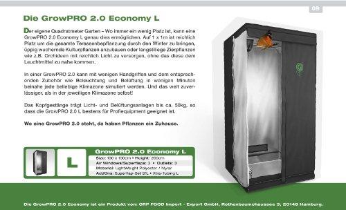 Growbox GrowPRO 2.0 L 100x100x200cm – idealer Growschrank / Growzelt / Zuchtschrank für Homegrow