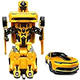 PLAY DESIGN Robot Races Car 2 In 1 Transform Car With Bright Lights And Music Battery Operated Toy ( MULTI COLOR)