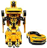 #3: PLAY DESIGN Robot Races Car 2 in 1 Transform Car with Bright Lights and Music Battery Operated Toy ( MULTI COLOR)