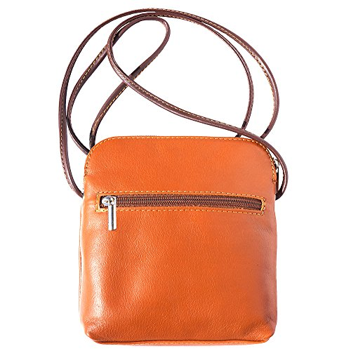 FLORENCE LEATHER MARKET Tracollina unisex in pelle 8609 (Cuoio-marrone)