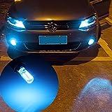 #10: Delhitraderss -2x T10 SMD 24 LED Waterproof Car Flashing Light Bulb Lamp DC 12V Blue for - Skoda Fabia