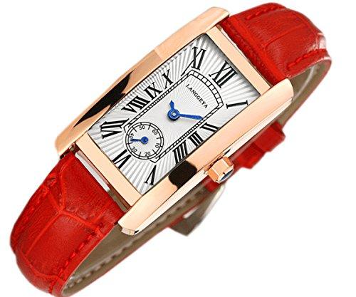 Neue Frauen Uhren Luxus Marke Leder quadratisch Kleid Handgelenk Uhren Fashion Damen Casual Quarzuhr