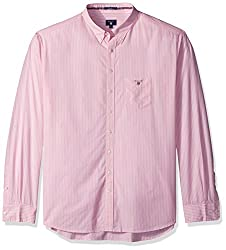 Gant Mens Washed Pinstripe Shirt, Bright Pink, L