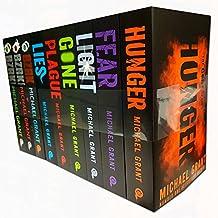 michael grant collection gone and bzrk series 9 books set (fear, plague, lies, hunger, gone, light, bzrk, bzrk apocalypse, bzrk: reloaded)