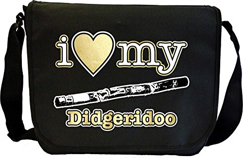 Didgeridoo I Love My - Musik Noten Tasche Sheet Music Document Bag MusicaliTee