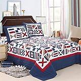 Quilt Bedspread Baumwolle Patchwork Handgefertigte 3-Teilige Umkehrbare Elegante Quilt-Set Weiche Bettdecke-Set King