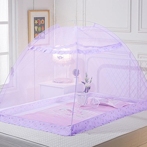 Faltbare Installation Kostenlose Erhöhung Bottomless Kinderbettnetze Kinderbett Sicherheit Pop-Up-Zelt Babybett-Baldachin-Filetarbeit-Abdeckung ()