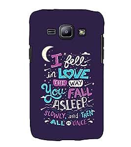 Fuson Designer Back Case Cover for Samsung Galaxy J1 (2015) :: Samsung Galaxy J1 4G (2015) :: Samsung Galaxy J1 4G Duos :: Samsung Galaxy J1 J100F J100Fn J100H J100H/Dd J100H/Ds J100M J100Mu (I Fell In Love Theme)