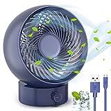 Ventilatore, TedGem Ventilatore USB Ventilatore da Tavolo Mini USB Ventilatore Silenzioso 180 Tipi di Velocità Del Vento, Del può Regolare su e Giù 20°, per Scrivania/Casa/Viaggiare(Blu)