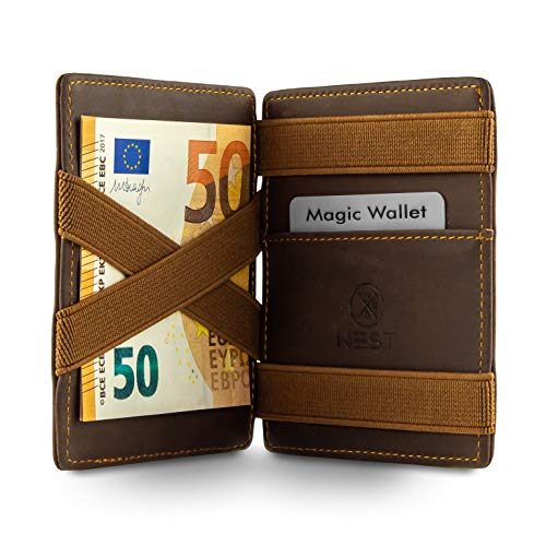 West - Magic Wallet - Das ORIGINAL - Geldbeutel mit Münzfach - inklusive Edler Geschenkbox - Der perfekte Begleiter für unterwegs - RFID Datenschutz