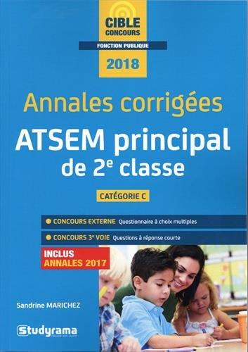 Annales corrigées ATSEM principal de seconde classe