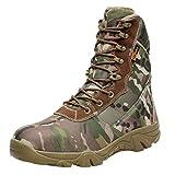 VRTUR 2019 Newest Boots Autumn d'hiver Vintage Bottes et Bottines Comfortable Boots Bottes De Trekking ImperméAbles ExtéRieures pour Hommes Camping Camouflage Bottes Militaires(Camouflage,41)