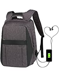 947ede813a379 Vbiger Laptop Rucksack 17 Zoll Anti Theft Reise Daypack Mit USB Ladeport