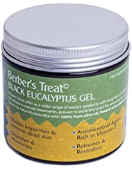 Natural Moroccan Black Soap With Eucalyptus - Exfoliate & Remove Dead Skin Cells - Skin Tightening - Cleansing & Refreshing Beldi Soap With Vitamin E - Antibacterial Treatment for Clogged Pores, Dry Skin, Oily Skin, Eczema or Psoriasis - 200ml Gel