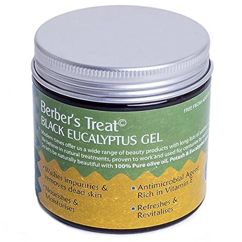 Natural Moroccan Black Soap With Eucalyptus -