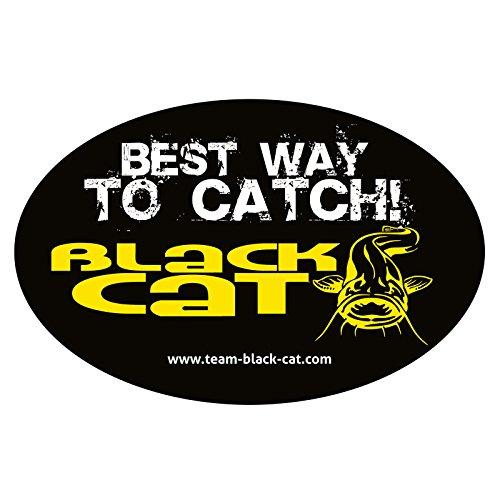 Black Cat Aufkleber oval