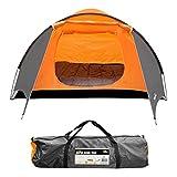 Milestone Camping Super koepeltent voor vier personen - Oranje