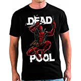 Camiseta Deadpool custom color negro (todas las tallas disponiles) (XS)