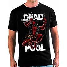Camiseta Deadpool custom color negro (todas las tallas disponiles) (M)
