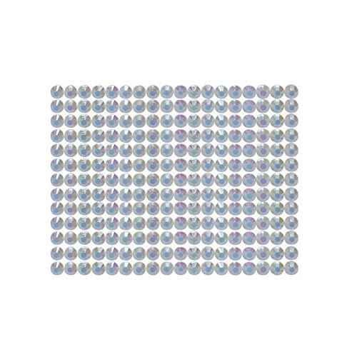 234 Strasssteine selbstklebend Glitzersteine zum Aufkleben rund Glitzer Aufkleber 5mm groß weiß (Runde Wand-buchstaben)