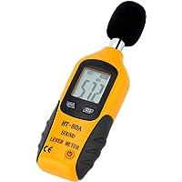 Mengshen Sonomètre 30-130dBA, Décibelmètre Professionnel avec écran Rétro-éclairé (Pile De 9V Incluse)