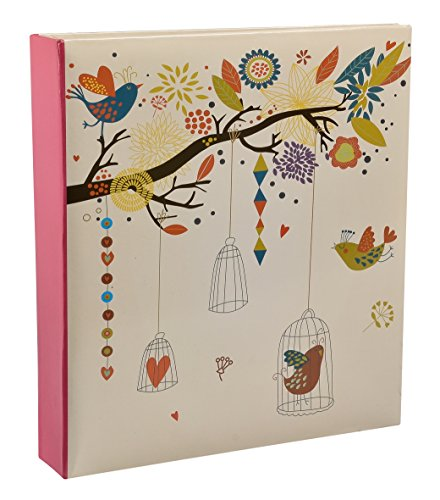 Arpan 5 x 7 Large Slip In Memo Photo Album For 200 Holds - Vintage Birds Case by ARPAN