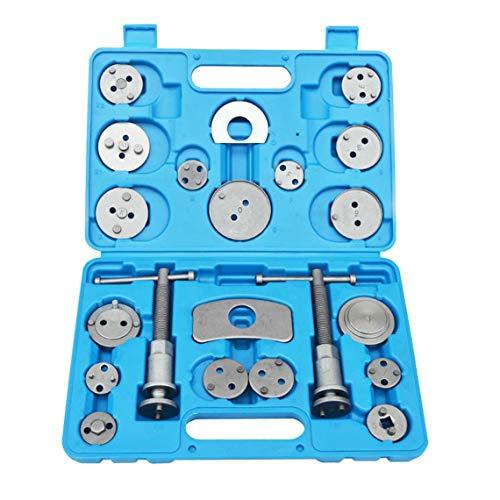Zinniaya 21pcs kit auto universale auto precisione freno a disco pinza vento kit attrezzi pastiglie freno pompa freno pistone freno kit di strumenti di riparazione auto