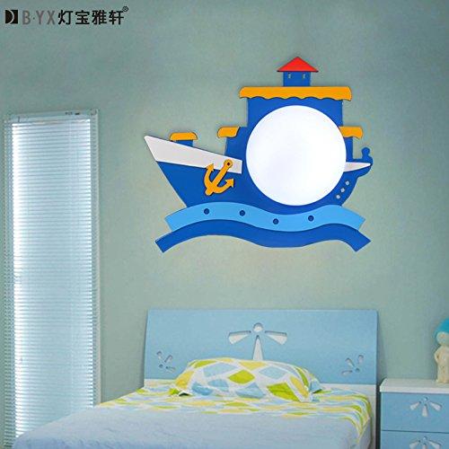 La nave dei pirati per bambini lampade a parete posto letto cartoon boy camera da letto per bambini lampada in camera i bambini creativi della lampada da parete 40*33cm,bianco