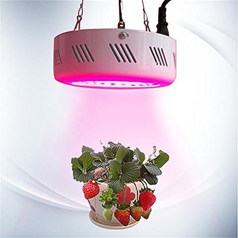 LOTOS® 50W MINI UFO Full Spectrum cultivo interior luces de la planta de invernadero jardín plantas kit de sistema hidropónico, AC85 ~ 265V (blanco, 50pcs LED granos de la lámpara)