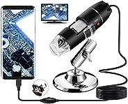 Microscope numérique USB, Endoscope de grossissement 40X-1000X Portable Bysameyee, Microscope Digital 8 LED po