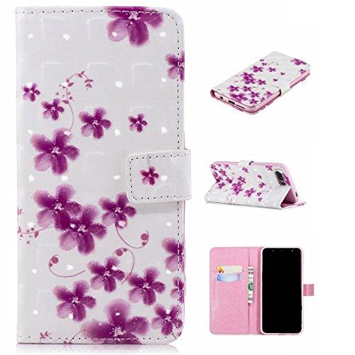 Preisvergleich Produktbild für Smartphone Huawei Honor 10 Hülle,  Leder Tasche für Huawei Honor 10 (5.84 Zoll) Flip Cover Handyhülle Bookstyle mit Magnet Kartenfächer Standfunktion (9)