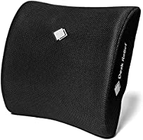 Desk Relief Lumbar Support Cushion + Included Sit Healthy App - Memory Foam Back Support Cushion to Relieve & Prevent...