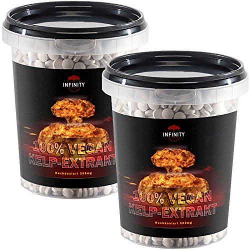 1400 Tabletten - Kelp Extrakt, 500mg Kelp mit 150mcg Jod / Tablette, 100% Vegan, natürliche Quelle für Jod - Sea Algen (Sea Kelp Pulver)
