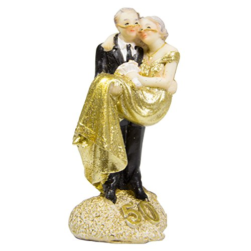 Figure Wedding Couple Couple Gold Wedding 50 Years Cake Cake Wedding Party Decoration